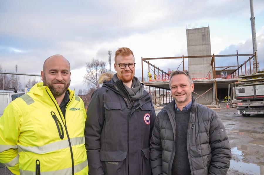 Jostein Hansen, Jan-Kristian Hansen, Tommy Saksenvik. Foto.