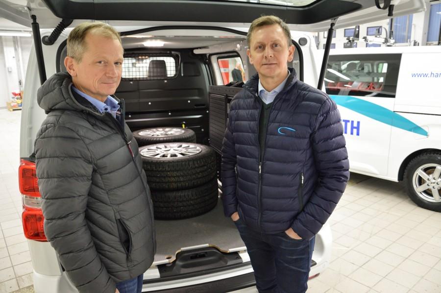 Driftssjef Steinar Nesheim og daglig leder Kjell Hansen. Foto.