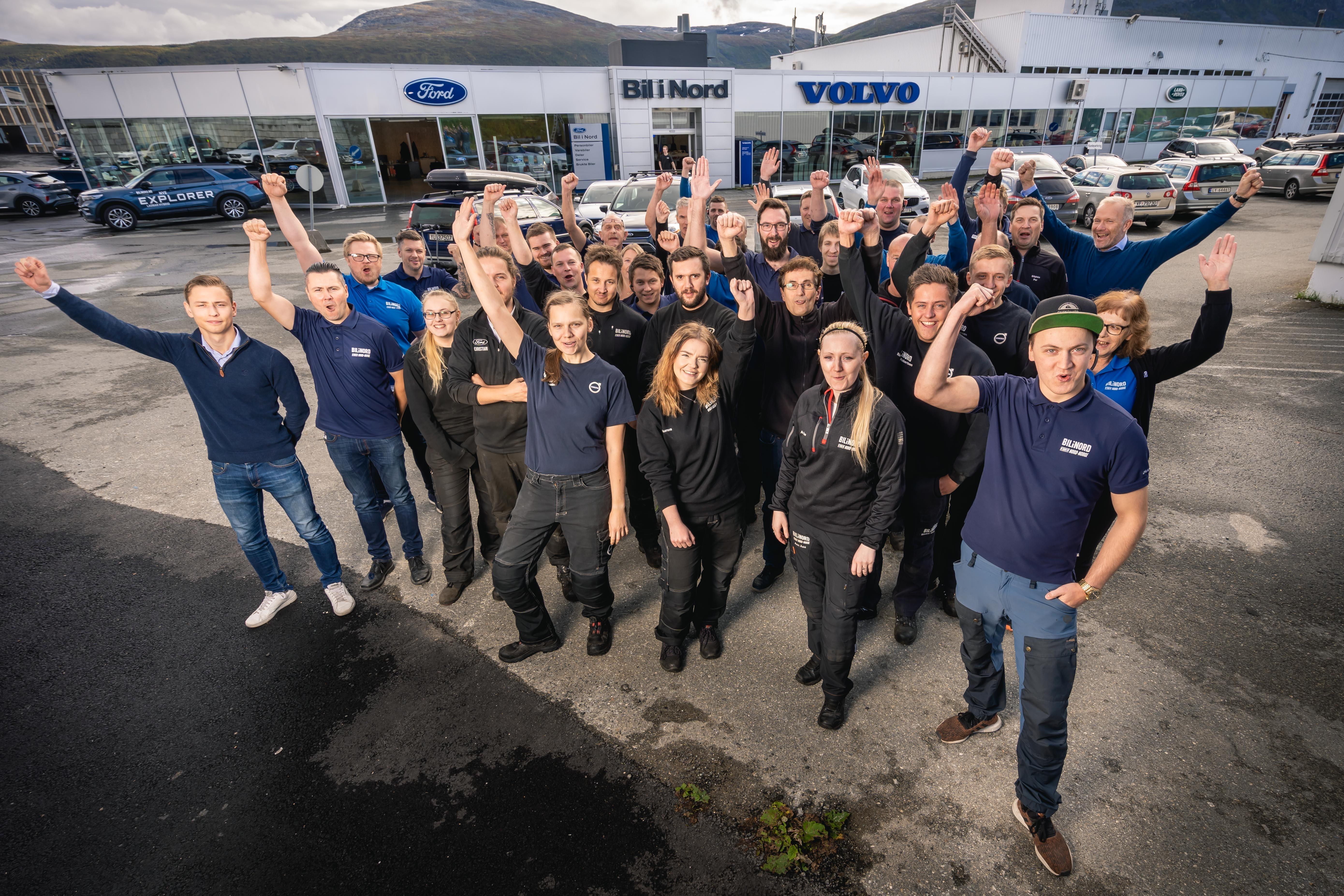 Medarbeiderne hos Bil i Nord har virkelig stått på i år, og det gir godt resultat.
